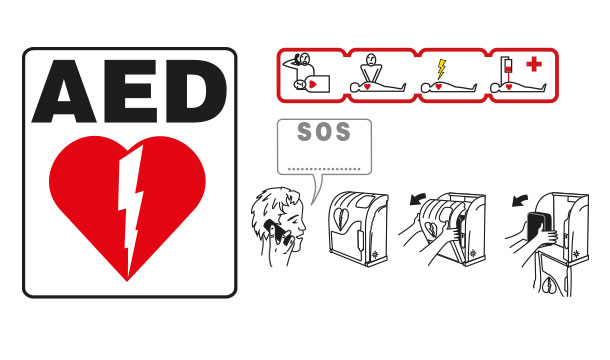AED Cabinet pictograms